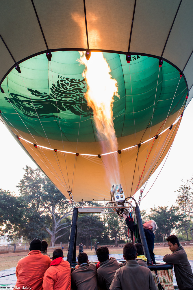 Bill from Oriental Ballooning inflates hot air balloon