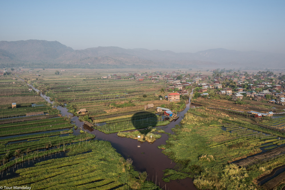 Oriental Ballooning over floating gardens