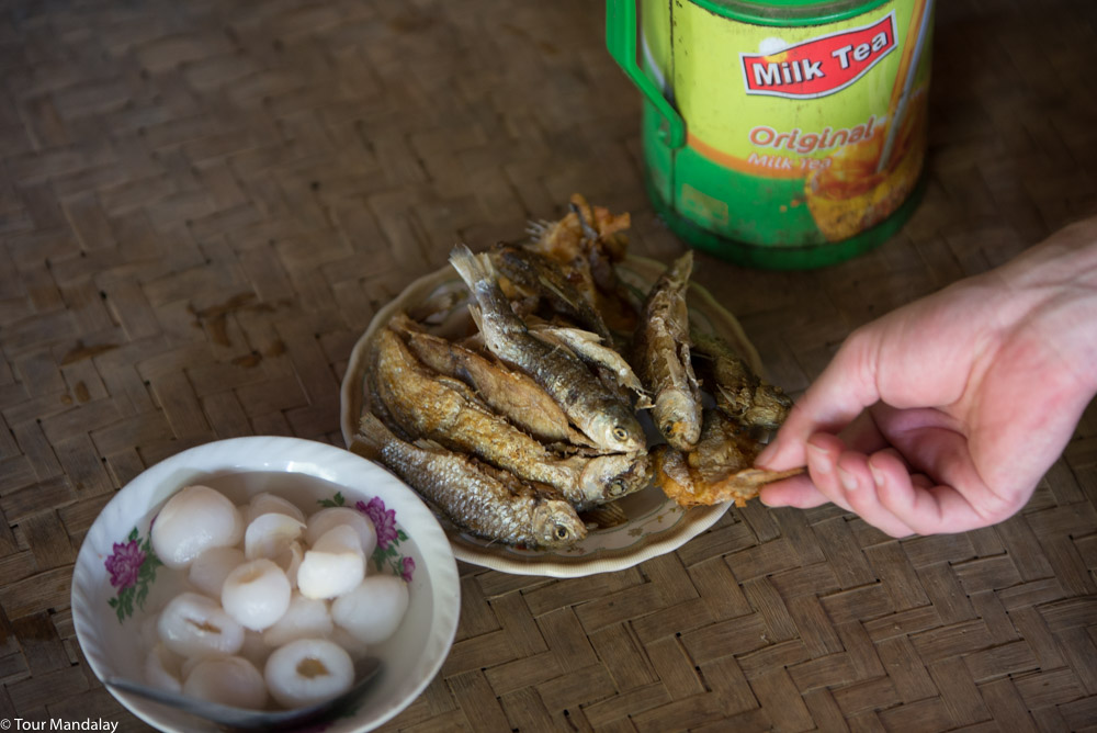 Tasty combo of lychee and dried fish