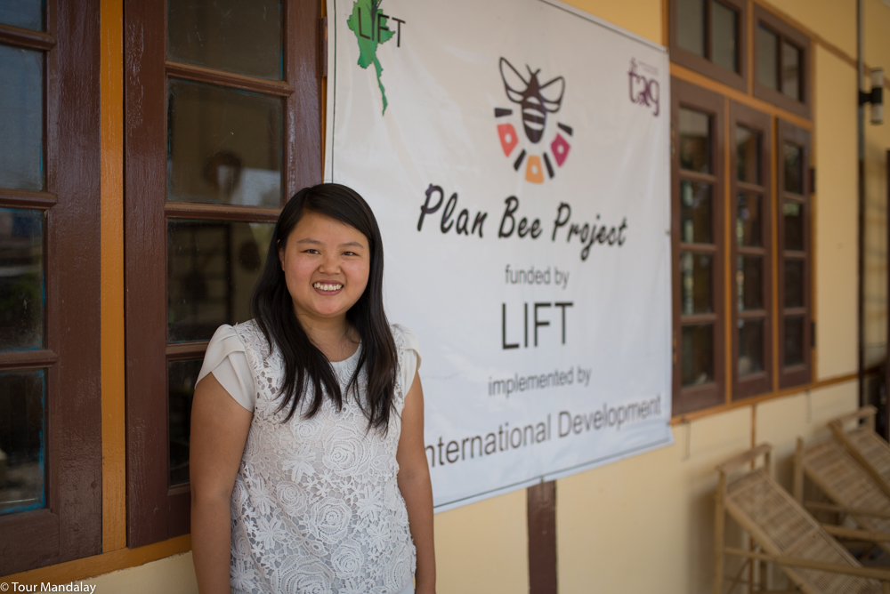 A member of Plan Bee's staff greets us with a smile