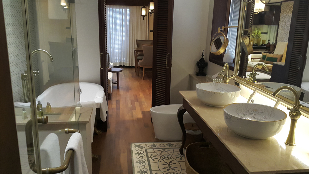 Owner's Suite bathroom complete with free standing bath and his-and-hers sink