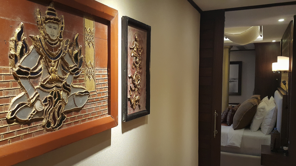 Traditional style painting on the wall