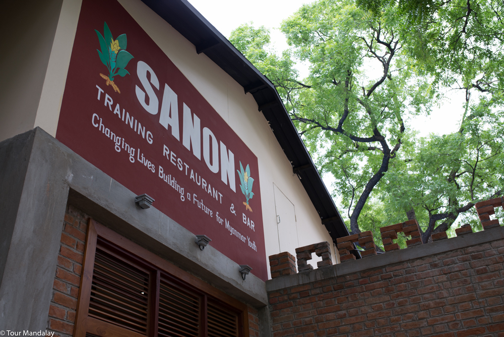 Sanon's eye pleasing signage adorns the side of the recently renovated restaurant