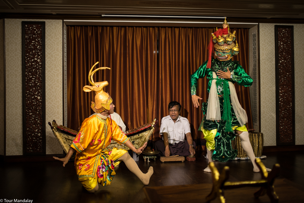 A cultural performance performed by the Mandalay School of Art