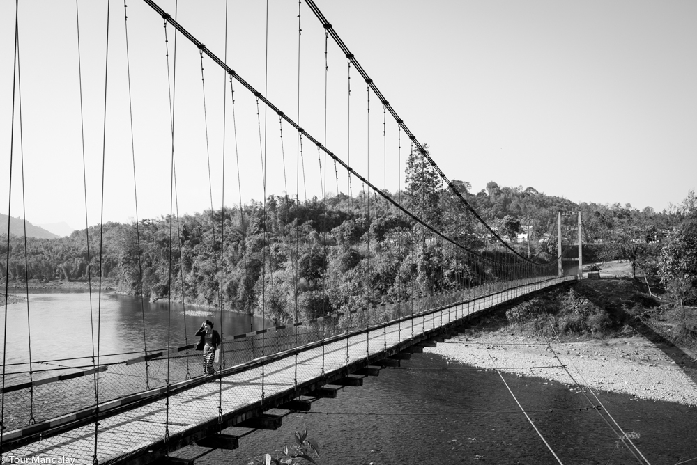 Putao's most iconic suspension bridge - this looks particularly picturesque in morning mist