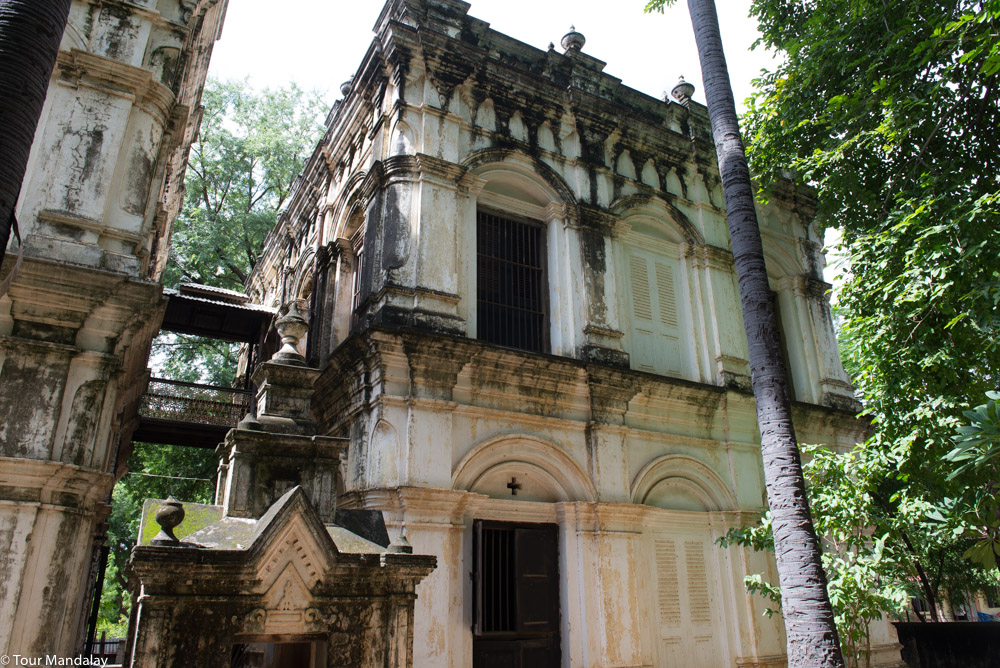The 19th century colonial-style building built by U Pyo Gyi's daughter
