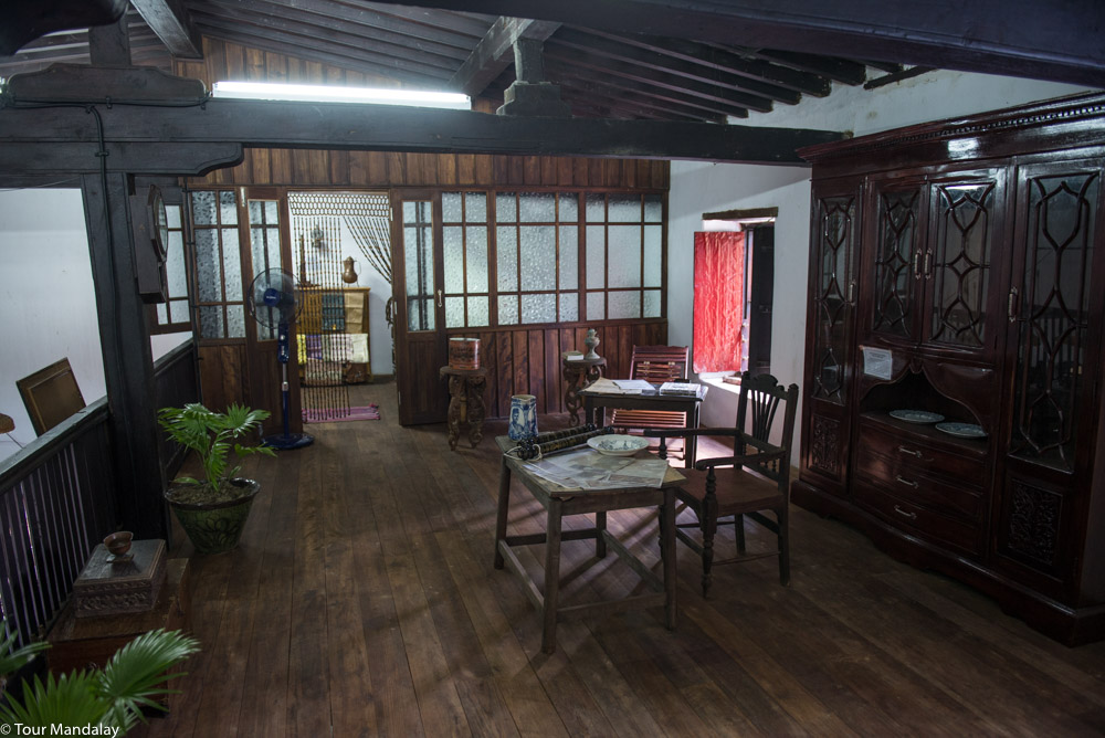 The mini-museum at Salay House, home to a small collection of antiques from the colonial era