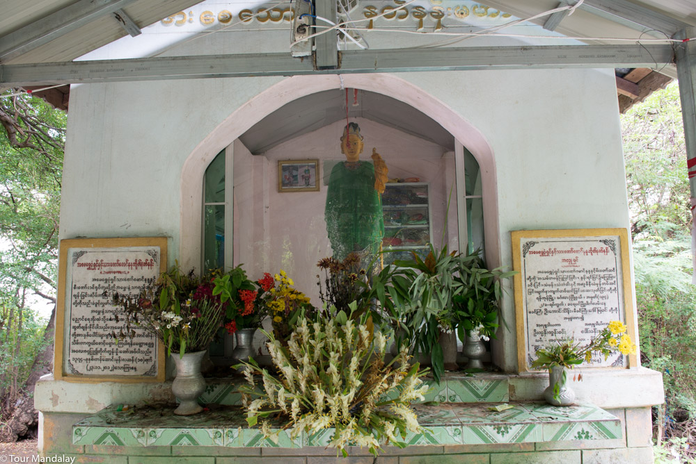 Paying respects at the shrine of Shwe Pone Shin