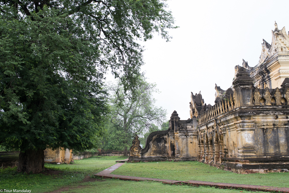 Maha Aung Mae Bonzan monastery in the ancient capital of Ava