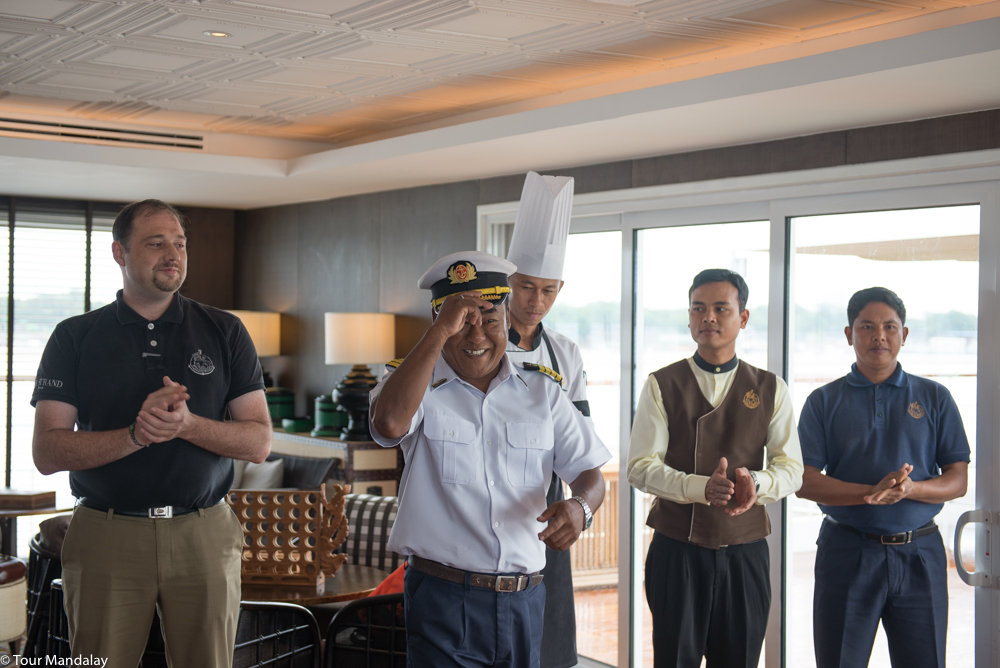 The Strand Cruise's captain gives us a warm welcome