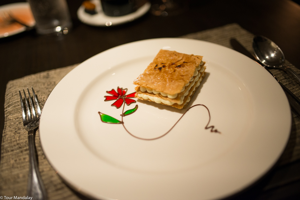 The millefeuille served on our first evening on-board The Strand Cruise