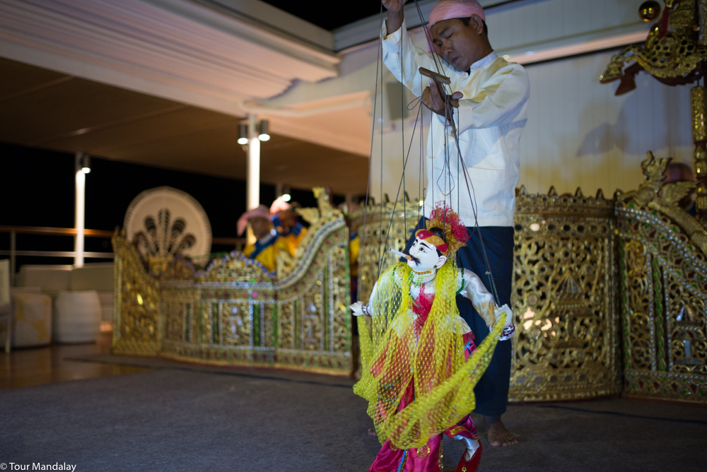 The Ko Gyi Kyaw puppet dance performed on-board The Strand Cruise for our final night