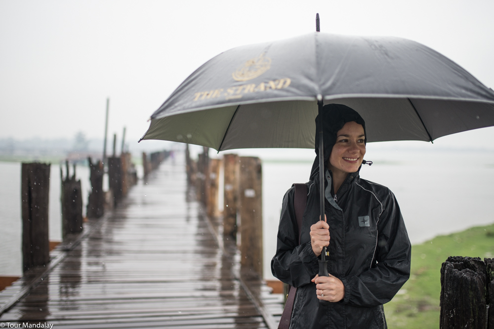 The wet weather seemed to put a lot of people off the idea of visiting U Bein Bridge