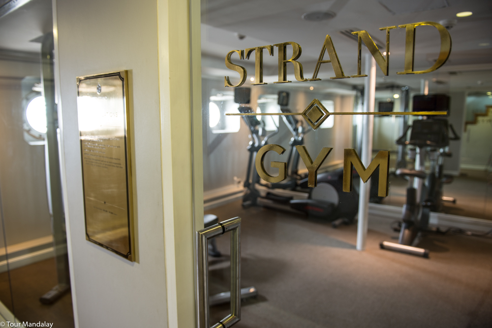 The Strand Cruise's compact, yet equipped gym room - perfect for working off all those calories!