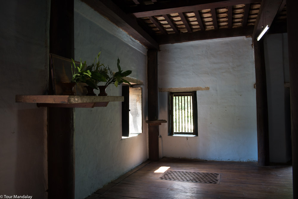 The well-preserved interior of U Pyo Gyi's mansion